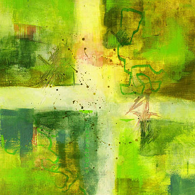 Painting - Green Light Abstract by Nancy Merkle