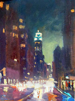 Painting - Green Lights by Kathleen Strukoff