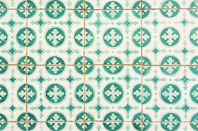 Photograph - Green Lucky Charm Lisbon Tiles by For Ninety One Days