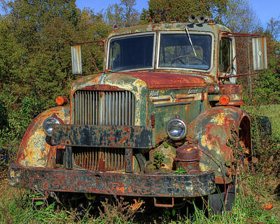 Photograph - Green Mack Truck by Jerry Gammon