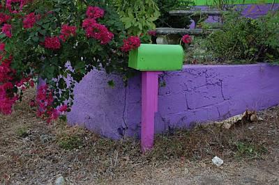 Green Mailbox Original by Michael Thomas