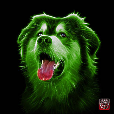 Painting - Green Malamute Dog Art - 6536 - Bb by James Ahn