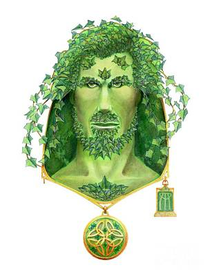 English Ivy Painting - Ivy Green Man by Melissa A Benson