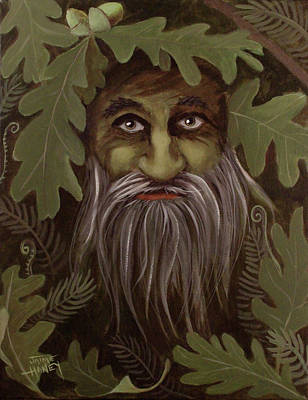Painting - Green Man Painting by Jaime Haney