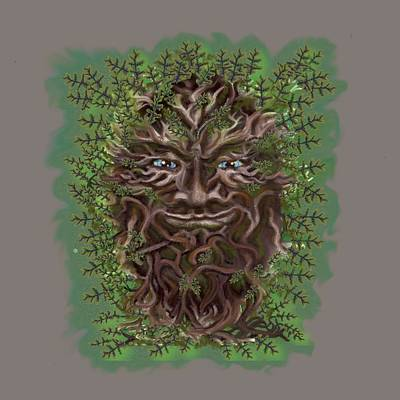 Digital Art - Green Man Of The Forest by Thomas Lupari