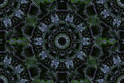 Jodi Diliberto Royalty-Free and Rights-Managed Images - Green Mandala by Jodi DiLiberto
