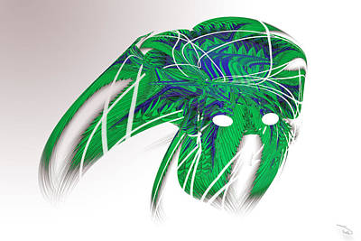Wall Art - Digital Art - Green Mask by Warren Lynn