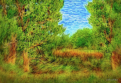Digital Art - Green Meadow Afternoon by Joel Bruce Wallach