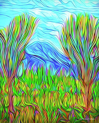 Digital Art - Green Meadow Day by Joel Bruce Wallach