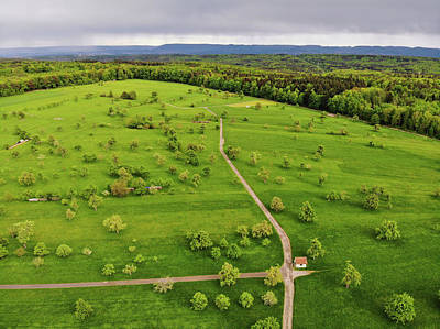 Photograph - Green Meadow With Trees In Germany Aerial by Matthias Hauser