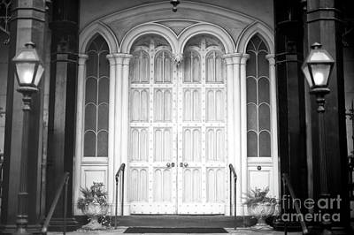 Photograph - Green Meldrim House Front Door by John Rizzuto