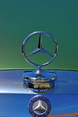 Photograph - Green Mercedes Benz Ornament by Dean Ferreira