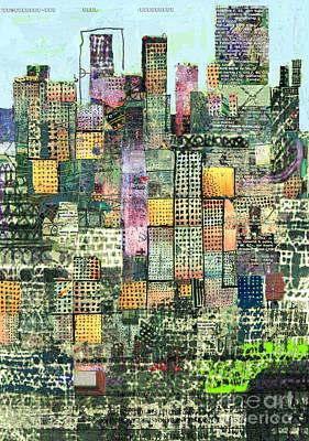 Green Metropolis  Art Print by Andy  Mercer