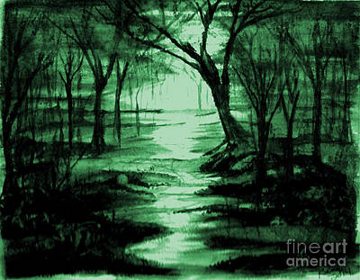 Painting - Green Mist by Reed Novotny