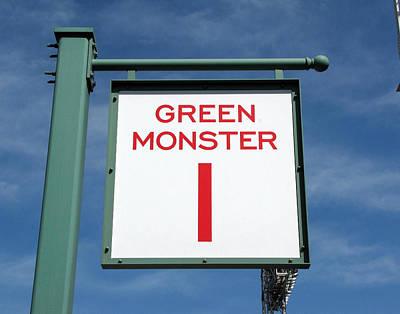 Redsox Photograph - Green Monster by Bart Blumberg