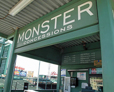 Photograph - Green Monster Concession Stand by Barbara McDevitt