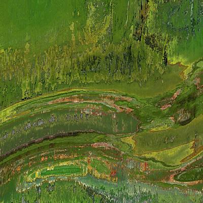 Digital Art - Green Moss Abstract by Matt Lindley
