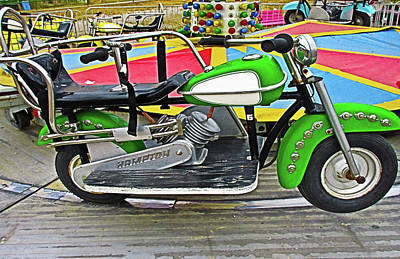 Photograph - Green Motorcycle Ride by Tony Grider