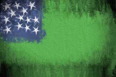 Digital Art - Green Mountain Boys Flag by JC Findley