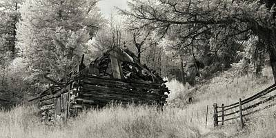 Green Mountain Cabin Art Print