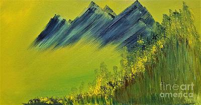 Painting - Green Mountain by Crystal Schaan