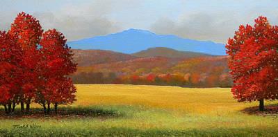 Green Mountain Landscape Art Print by Frank Wilson