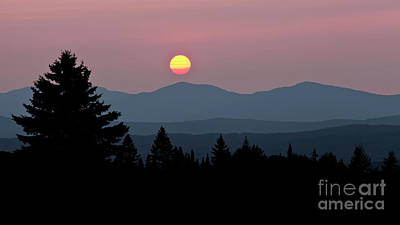 Photograph - Green Mountain Sunset 2 by Alan L Graham