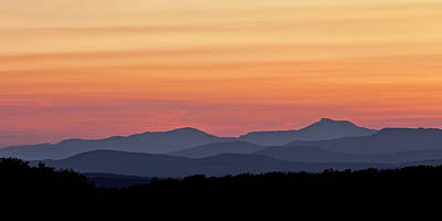Photograph - Green Mountain Sunset Panorama by Alan L Graham