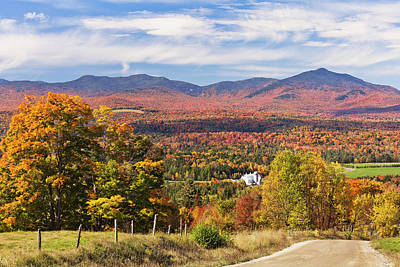 Photograph - Green Mountains Autumn View by Alan L Graham