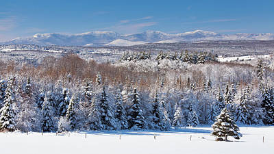 Photograph - Green Mountains In Winter by Alan L Graham