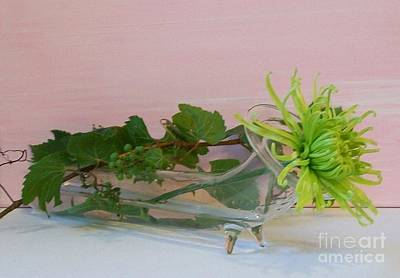 Grapevines Photograph - Green Mum With The Gapevine by Marsha Heiken