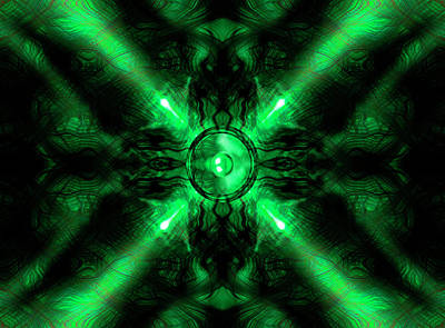 Digital Art - Green Music Speaker  by Steve Ball