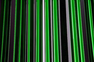 Photograph - Green Neon Bars by Valentino Visentini