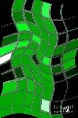 Shower Digital Art - Green Net Walkin by Marsha Heiken
