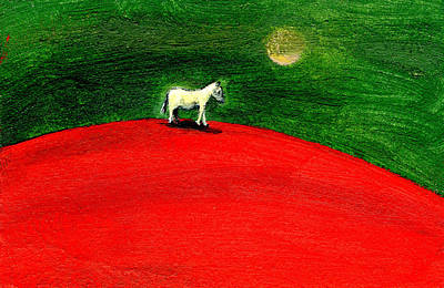 Odd Painting - Green Night by Gigi Sudbury
