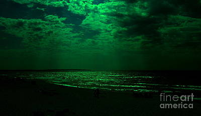 Photograph - Green Night by Greg Moores