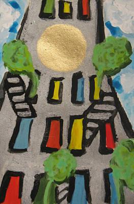 Painting - Green Ny by Krisztina Asztalos