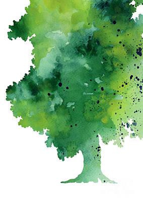 Green Oak Fine Art Print Art Print