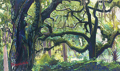Painting - Green Oaks by David Randall