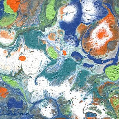 Painting - Green Orange Abstract by Jamie Frier