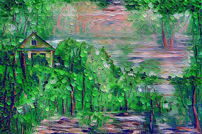 Digital Art - Green Paradise by Yury Malkov