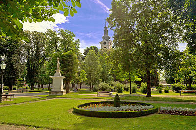 Photograph - Green Park And Church In Bjelovar by Brch Photography