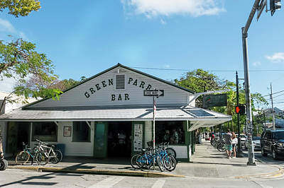 Photograph - Green Parrot Bar, Key West by Kay Brewer