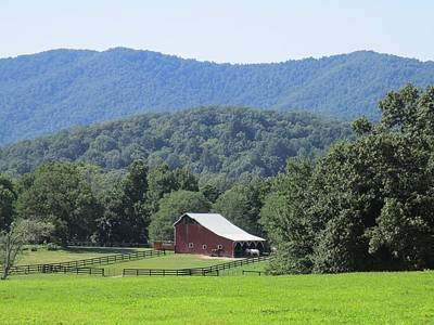 Photograph - Mountain Barn Retreat by Charlotte Gray