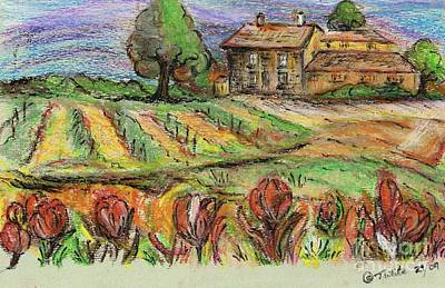 Mixed Media - Green Pastures  by Teresa White