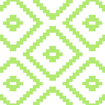 Green Pattern  Print by Mark Ashkenazi