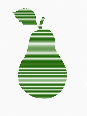 Green Pear Art Print