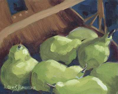 Painting - Green Pears by Lewis Bowman