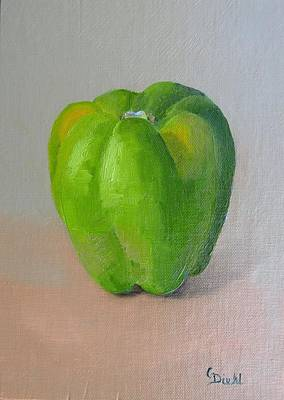 Painting - Green Pepper by Grace Diehl