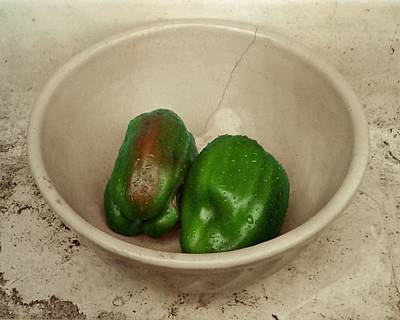 Photograph - Green Peppers In A Bowl by Patricia Strand